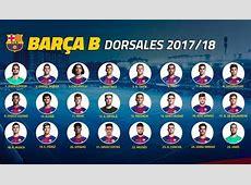 El Barcelona B reparte los dorsales
