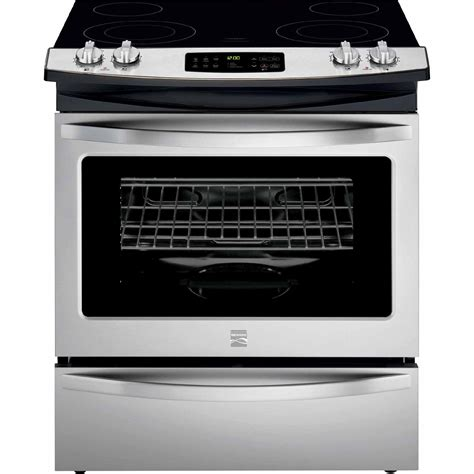 kenmore electric range slide stainless cooktop ceramic steel sears cu ft smoothtop appliances ranges ovens cooktops recommendations kmart amazon