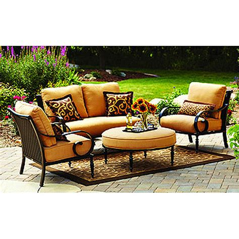 better homes and gardens patio furniture better homes and gardens englewood heights 4 piece outdoor conversation set walmart com