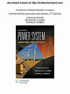 305392821 Solution Manual For Power System Analysis And Design 5th Edition Pdf 1