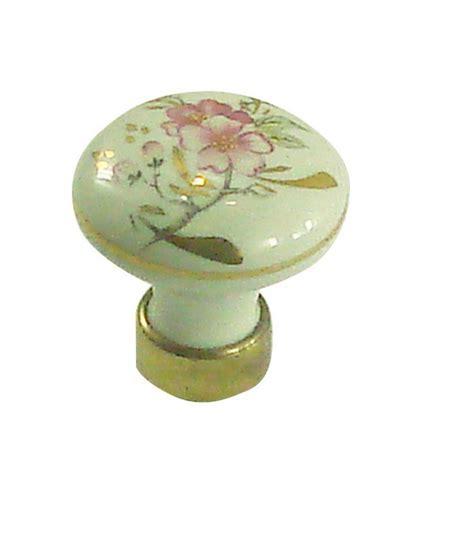 boutons de meubles de cuisine bouton de meuble en porcelaine filet or motif fleur d