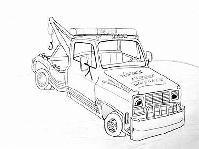 Coloring Tow Truck Rc Template Popular
