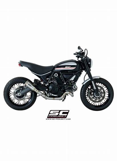 Scrambler Ducati Position Conic Silencieux Inox Ligne
