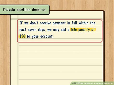 How To Write A Payment Reminder 13 Steps (with Pictures
