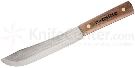 high carbon steel kitchen knives hickory butcher knife 7 quot carbon steel blade