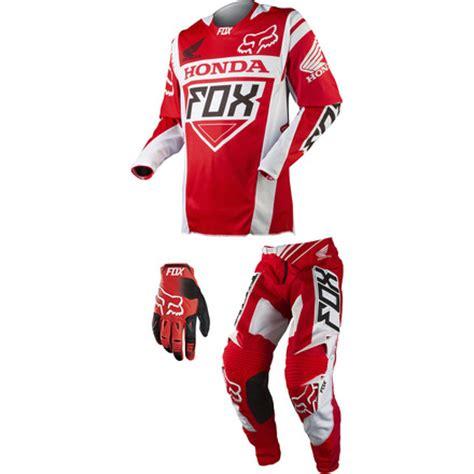 fox honda motocross gear kit