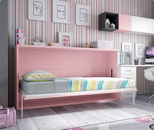 Lit Avec Bureau : lit escamotable mural avec bureau personnaliser glicerio so nuit ~ Teatrodelosmanantiales.com Idées de Décoration