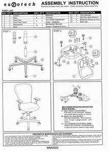 ergonomic chair assembly guides and operating manuals