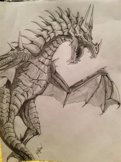 Awesome Dragon Drawing  Cute, Cool, Like It Pinterest