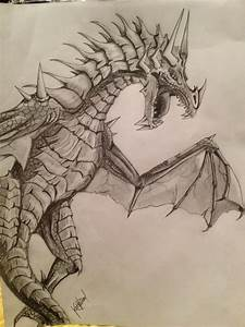 Awesome Dragon Drawing | Cute, Cool, Like It | Pinterest ...