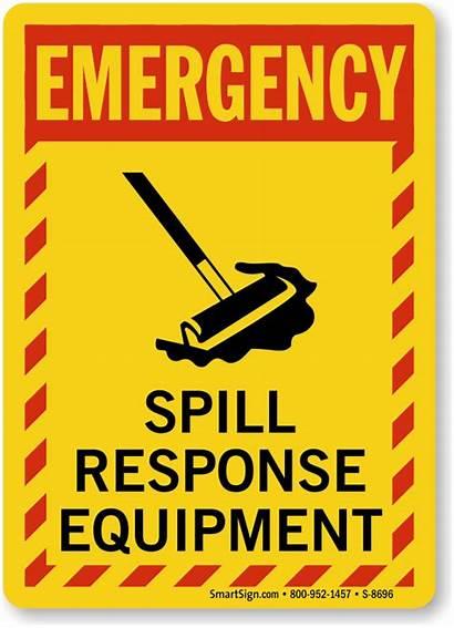 Spill Emergency Response Sign Equipment Kit Signs