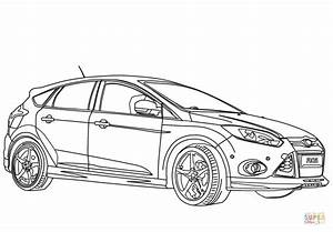 2012 ford focus sport coloring page free printable With 2016 ford focus rs
