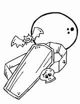 Coffin Coloring Moon Pages Halloween Mummy Template Fun Sketch Harvest sketch template