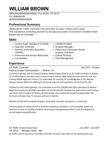 Air Resume by Best Air Traffic Controller Resumes Resumehelp