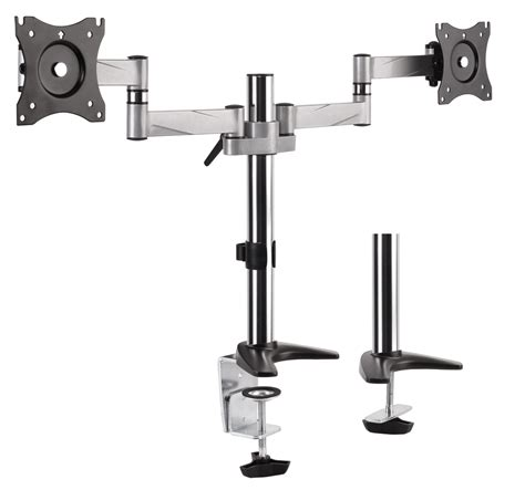 desk mount monitor arm staples adjustable height articulating mount