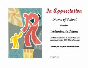 volunteer appreciation certificates free templates - wording pta volunteer certificate party invitations ideas