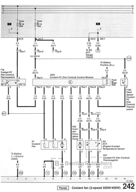cooling fan wiring diagram  volkswagen passat tech