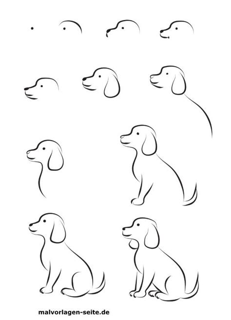 Wie Malt Einen by Wie Malt Einen Hund Gratis Malvorlagen Zum