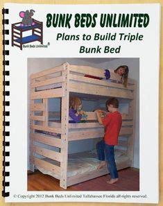 images  triple bunk bed plans  pinterest