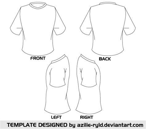 pocket front shirt blank tshirt template vector front and back template