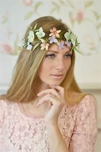 Bridal Floral Headband Woodland Crown Hydrangea Head Piece