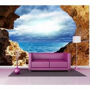 Papier Peint Geant : papier peint g ant d co rocher vue sur la mer 250x360cm ~ Premium-room.com Idées de Décoration