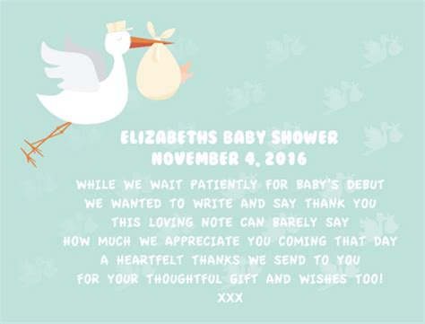 How To Write Thank You Cards For Baby Shower by Baby Shower Thank You Cards Designs By Creatives