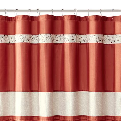 park serene embroidered shower curtain