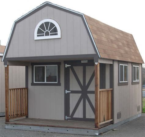 tall barn with porch by tuff shed garden style pinterest