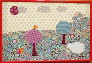 Création Avec Tissus : terepix cr ations tableau textile ~ Nature-et-papiers.com Idées de Décoration