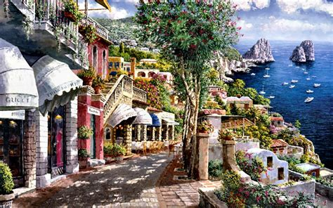 Shops Beautiful Capri Italy Wallpapers Shops Beautiful