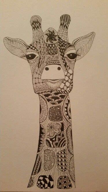 kerrys giraffe zentangle  art pinterest giraffes