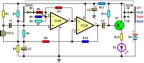 Room Noise Detector Circuit Schematic Diagram