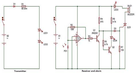 intruder or burglar alarm circuit using infra ir gadgetronicx