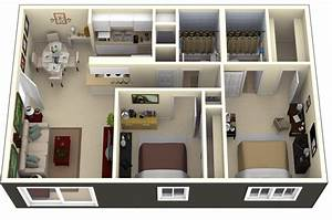 Two, Bedroom, Apartment, Plans