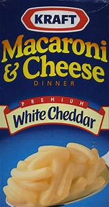 Kraft White Cheddar Macaroni & Cheese « Food In Real Life