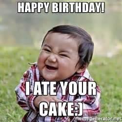 Funny Happy Birthday Cake Meme