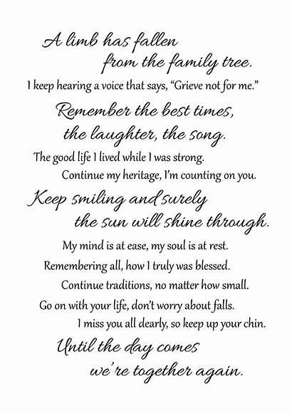 Funeral Limb Tree Transparent Grief Poems Clipart