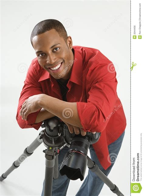 Young Male Photographer Stock Photo Image Of Studio