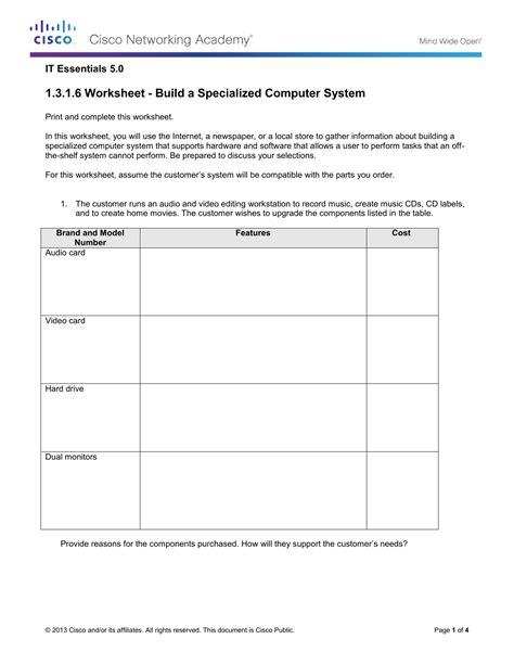 label  computer parts worksheet kids activities