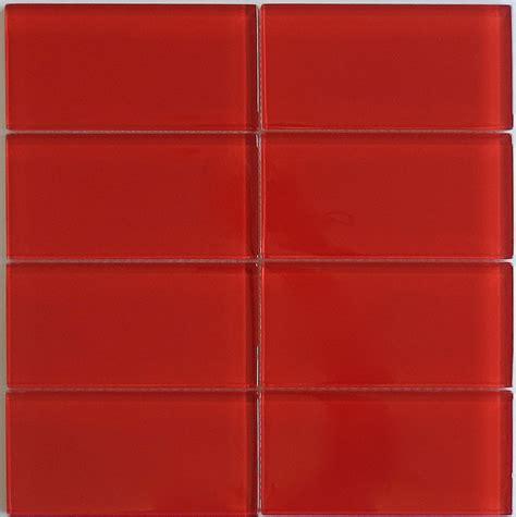 classic glass subway tile in cherry modwalls lush