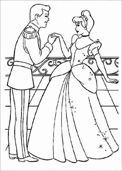Cinderella Coloring Disney Pages Princess Sheets Printable