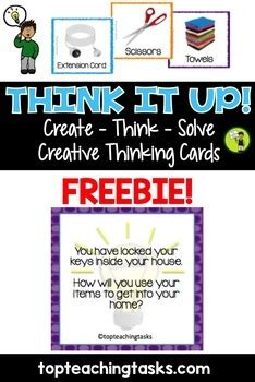 Use of active board to display videos. Creative and Lateral Thinking Prompt Cards FREE by Top Teaching Tasks