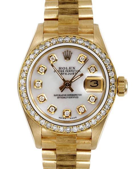 Gold Rolex Watches Diamonds