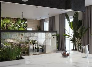 Home, Designing, Minimalist, Interior, Design, With, Green, Plant, Accents