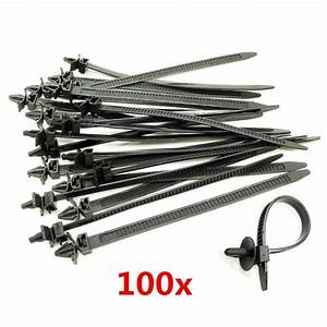 100x Mixed Nylon Cable Tie Bundled Car Wire Harness Line