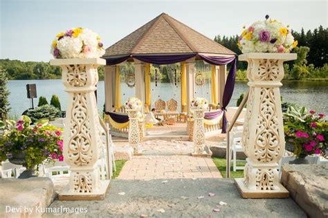 outdoor decorations canada ontario canada hindu sikh fusion wedding by devi by