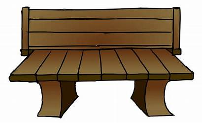 Bench Park Clipart Chair Furniture Wooden Outdoor