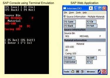 barcode sap  erp web interfaces