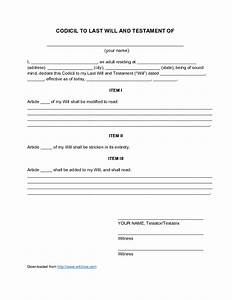 last will and testament sample free printable documents With sample of last will and testament template